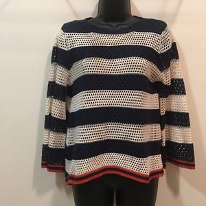 Flying Tomato lightweight red white blue sweater S